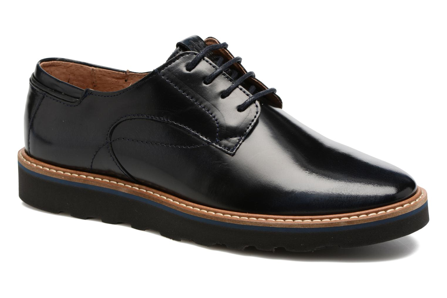 Lace-up shoes TBS Typhany Blue detailed view/ Pair view