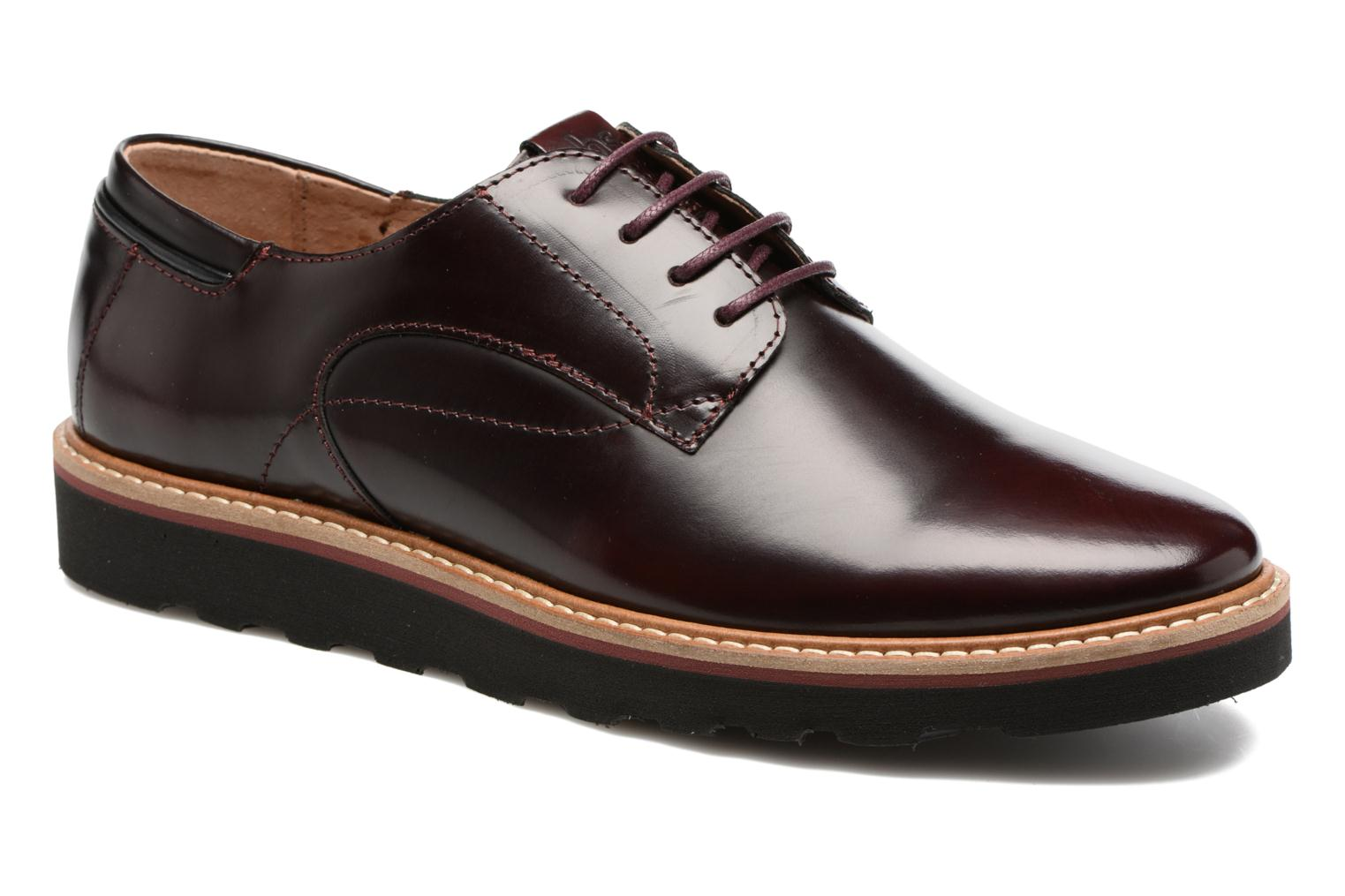 Lace-up shoes TBS Typhany Burgundy detailed view/ Pair view