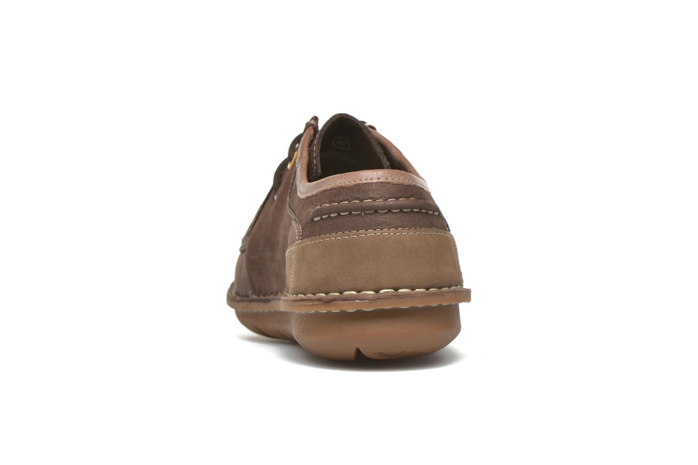 Zapatos con cordones TBS Yakari Marrón vista lateral derecha