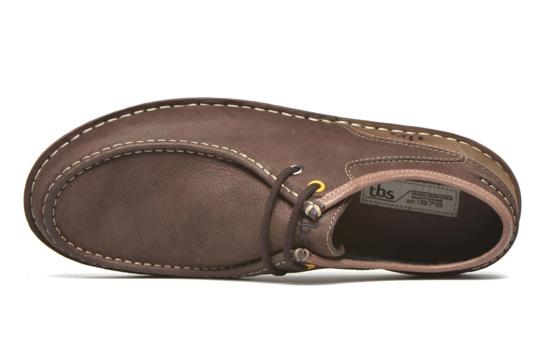 Zapatos con cordones TBS Yakari Marrón vista lateral izquierda