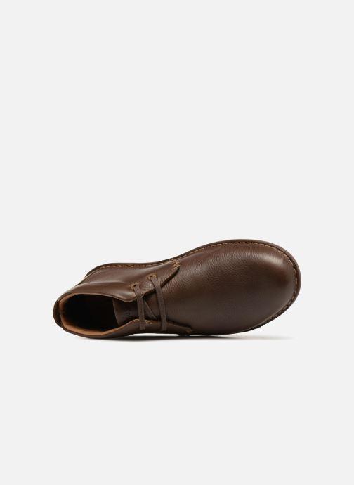 Zapatos con cordones TBS Ystoryh Marrón vista lateral izquierda