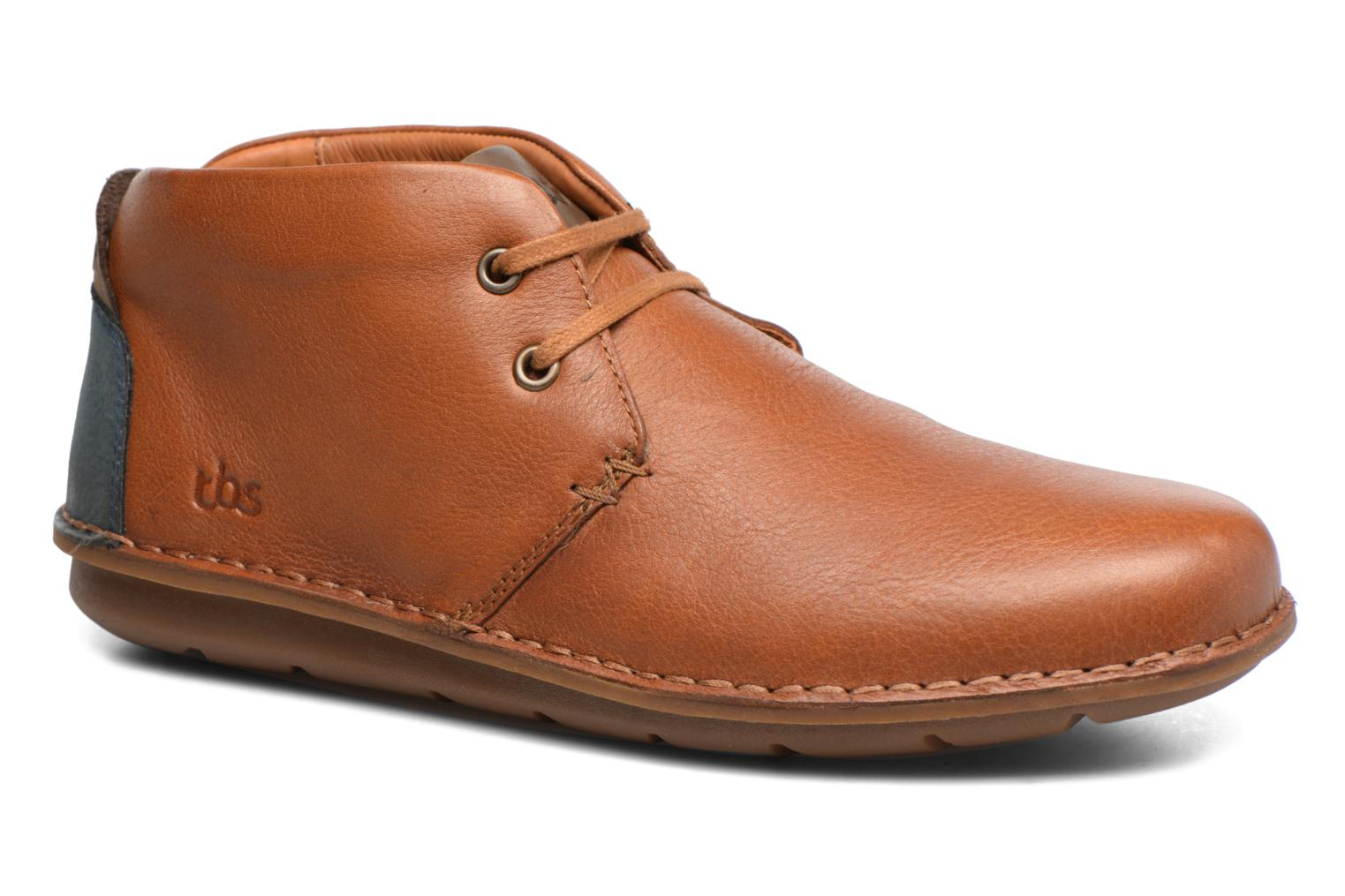 Lace-up shoes TBS Ystoryh Brown detailed view/ Pair view