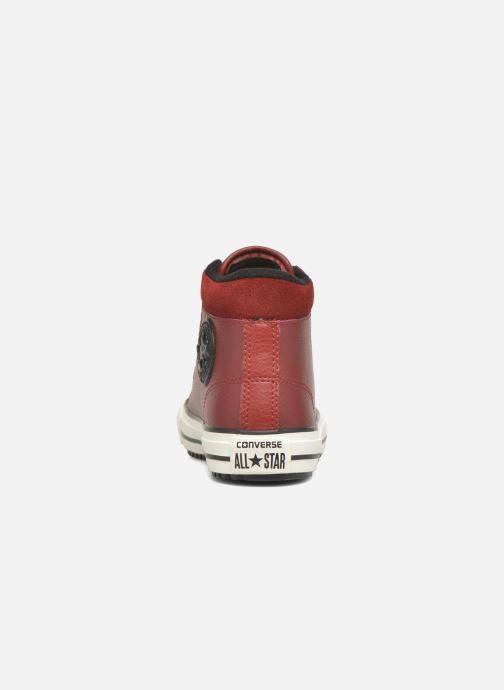 Sneakers Converse Chuck Taylor All Star Converse Boot Hi Rød Se fra højre
