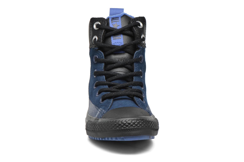 Baskets Converse Chuck Taylor All Star Asphalt Boot Hi Bleu vue portées chaussures