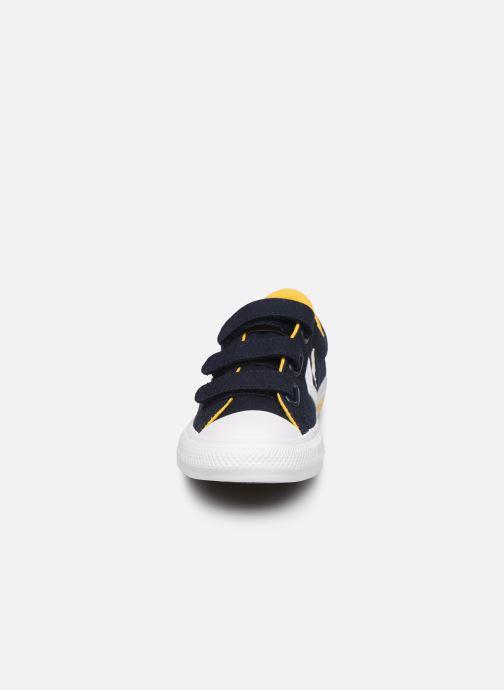 Sneaker Converse Star Player 3V Ox blau schuhe getragen