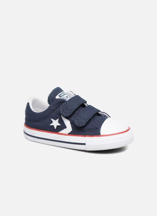 timeless design de477 5d269 Baskets Converse Star Player 2V Ox Bleu vue détail paire