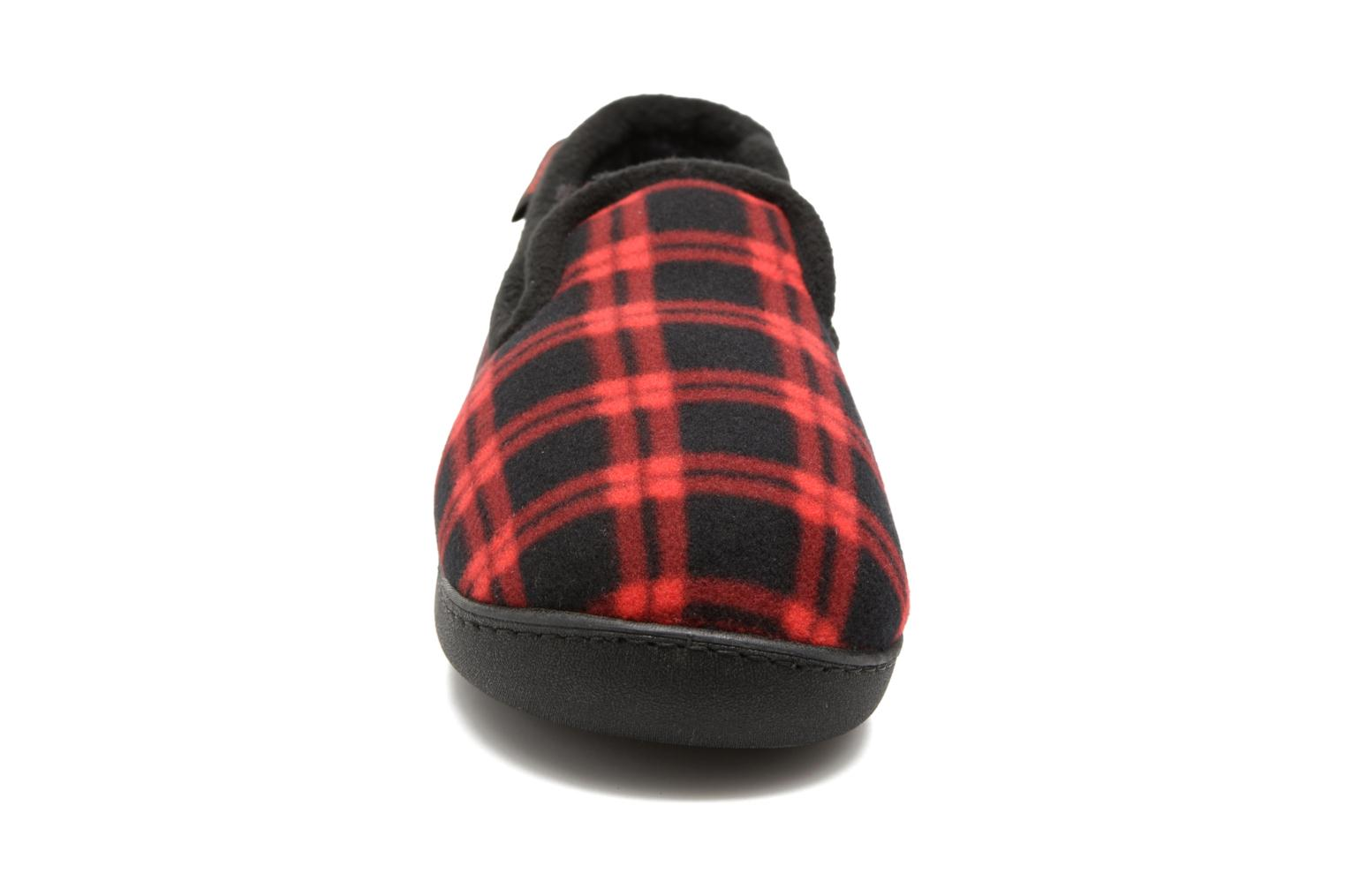 Slippers Isotoner Charentaise Ergonomique Polaire Red model view