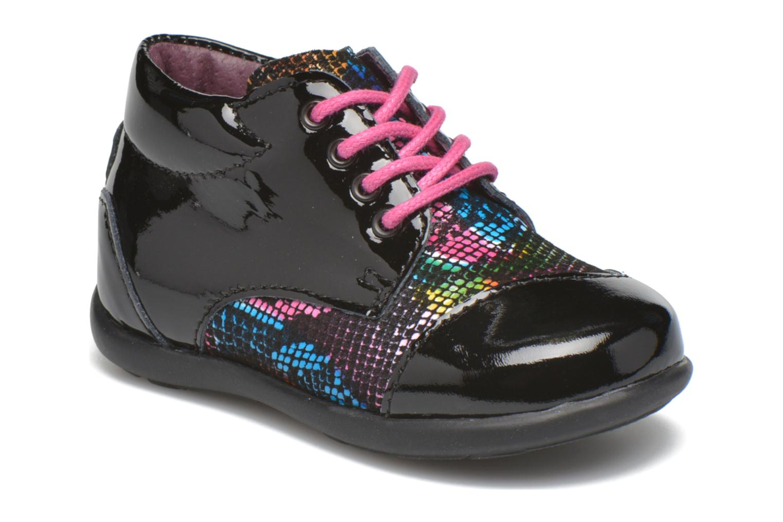 Chaussures à lacets Mod8 Lou Noir vue détail/paire