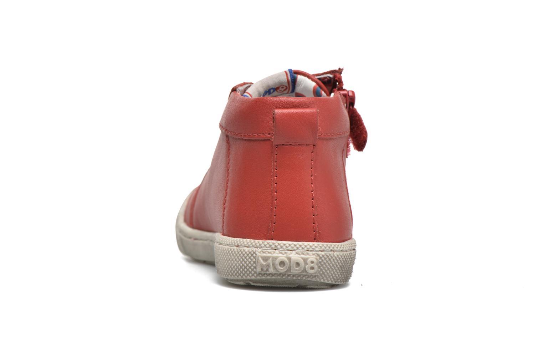 Baskets Mod8 Kolt Rouge vue droite