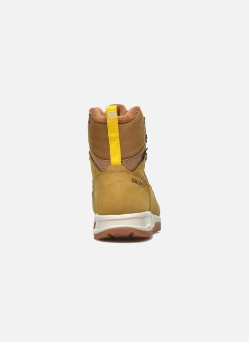 Zapatillas de deporte Salomon Utility Pro TS CSWP Amarillo vista lateral derecha