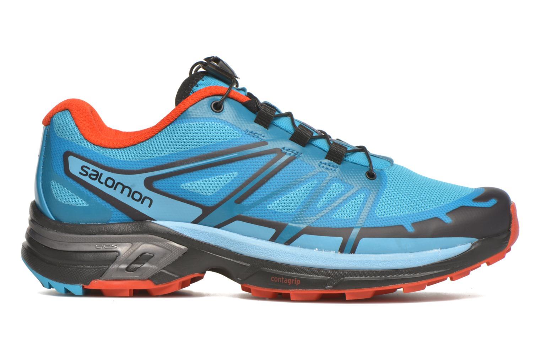 Chaussures de sport Salomon Wings Pro 2 W Bleu vue derrière