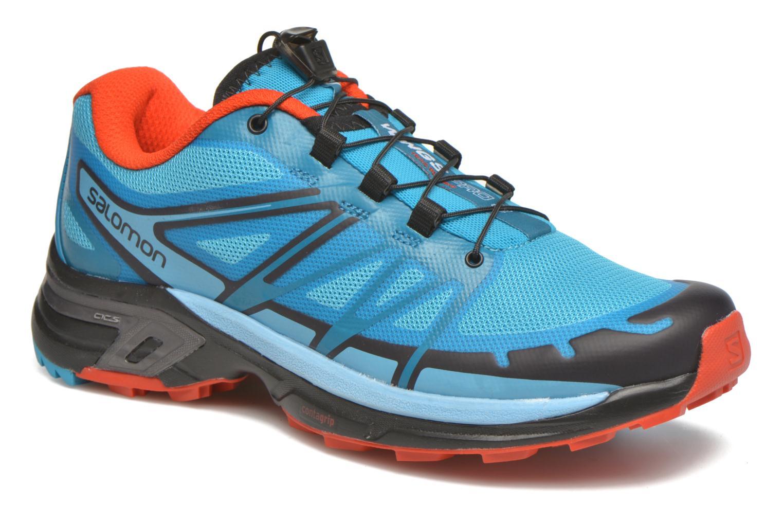 Chaussures de sport Salomon Wings Pro 2 W Bleu vue détail/paire