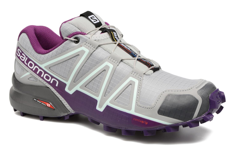 Chaussures de sport Salomon Speedcross 4 W Gris vue détail/paire