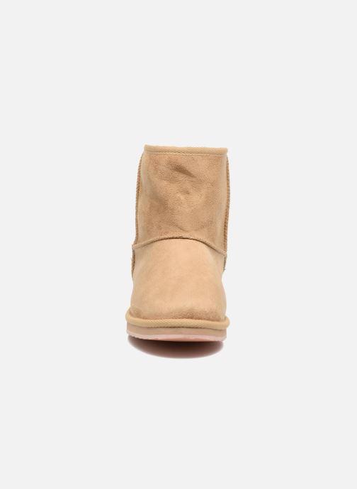 Bottes Pepe jeans Angel Beige vue portées chaussures