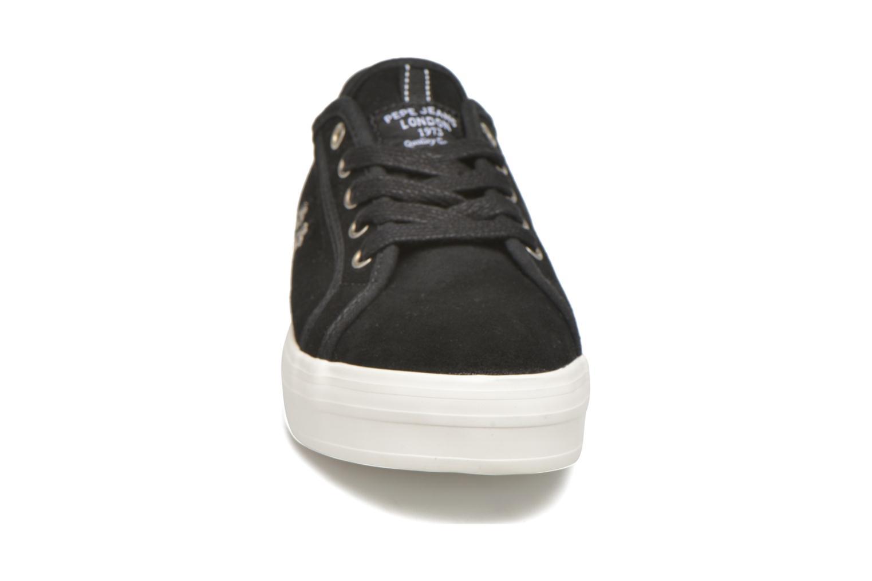 Baskets Pepe jeans Hannah Noir vue portées chaussures