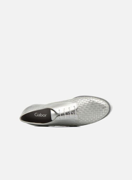 Chaussures à lacets Gabor Mariam Argent vue gauche