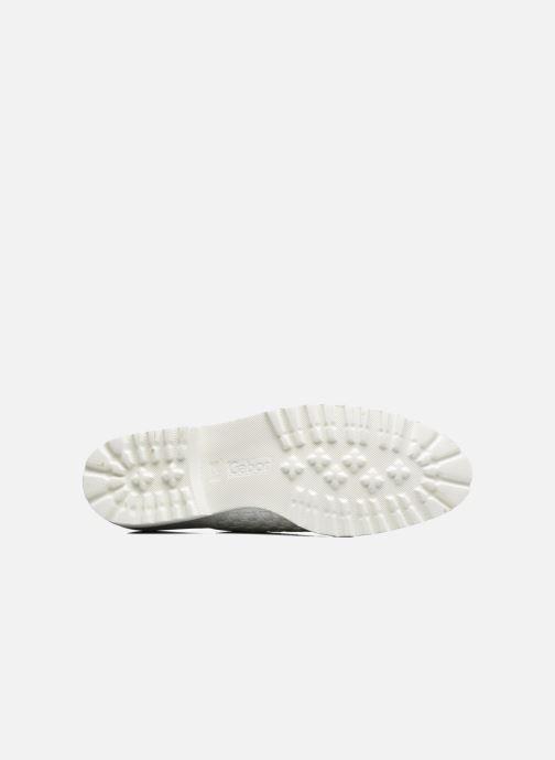 Chaussures à lacets Gabor Mariam Argent vue haut