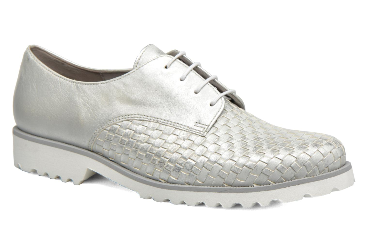 Lace-up shoes Gabor Mariam Silver detailed view/ Pair view