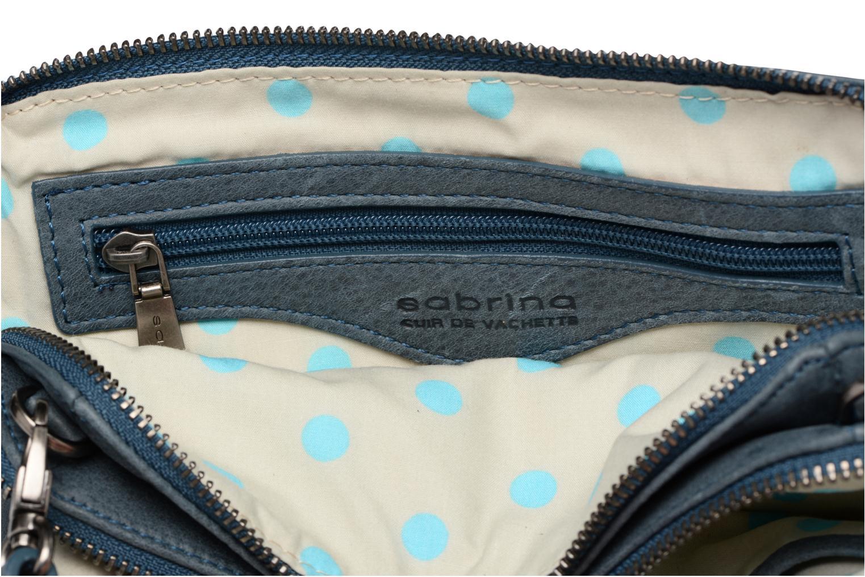 Sacs à main Sabrina Leslie Porté travers Bleu vue derrière