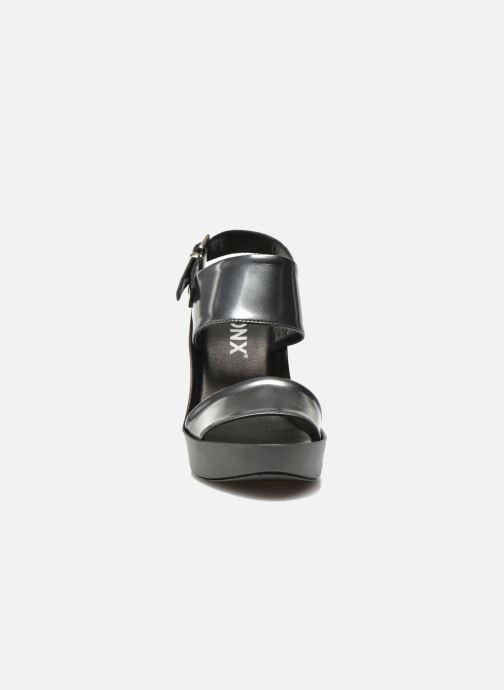 Sandales et nu-pieds Bronx Anner Gris vue portées chaussures