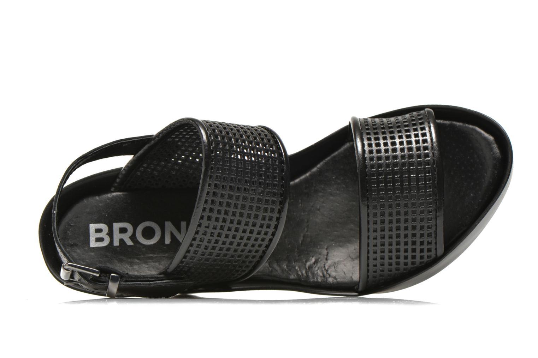 Sandales et nu-pieds Bronx Anner A Noir vue gauche