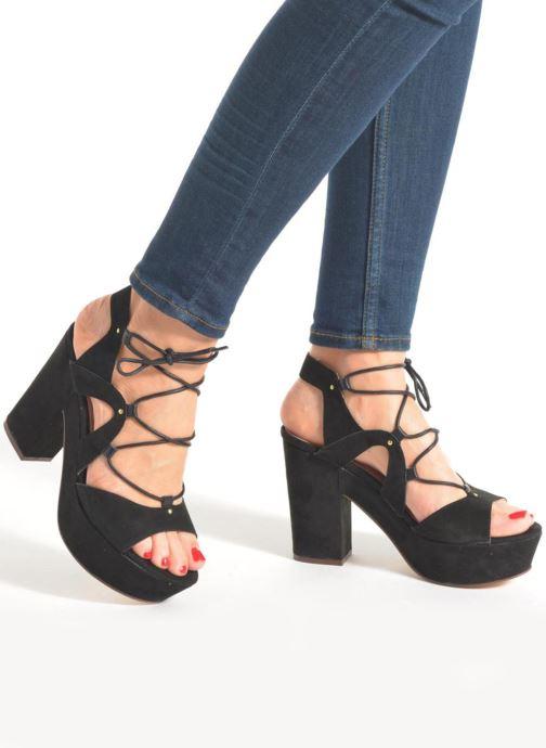 Sandales et nu-pieds Bronx Jada Noir vue bas / vue portée sac