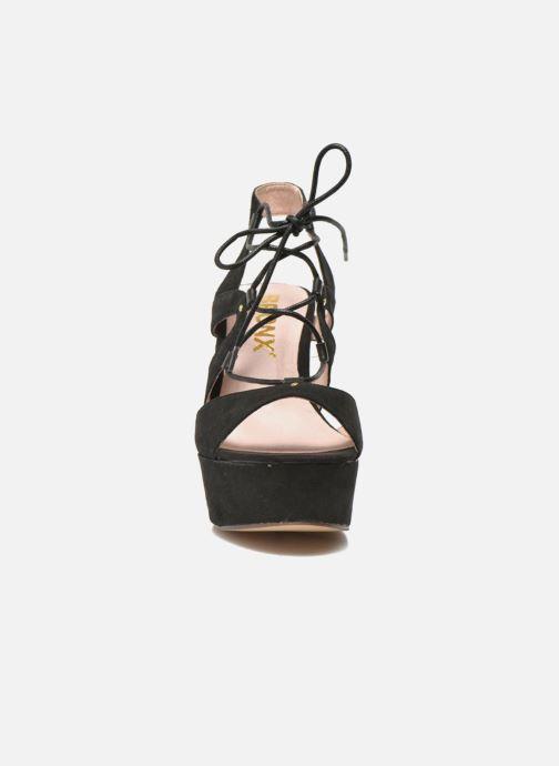 Sandales et nu-pieds Bronx Jada Noir vue portées chaussures