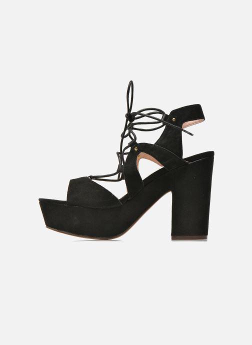 Sandales et nu-pieds Bronx Jada Noir vue face
