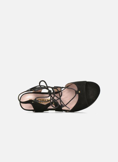 Sandales et nu-pieds Bronx Jada Noir vue gauche