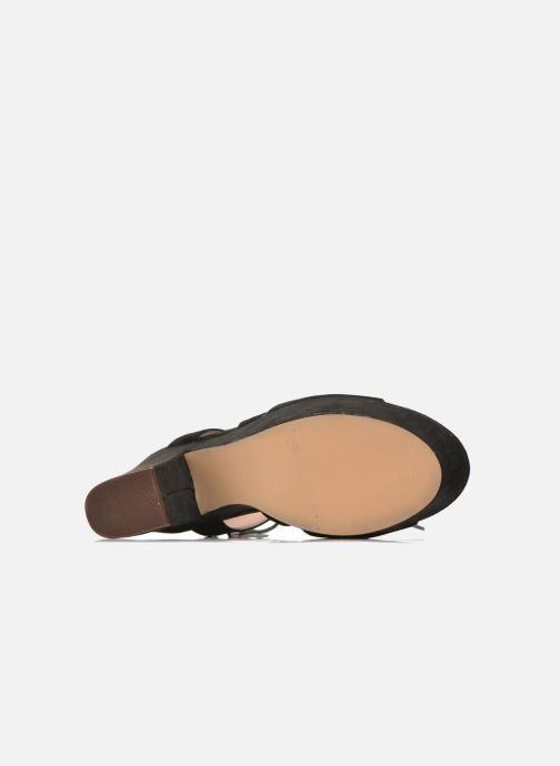 Sandales et nu-pieds Bronx Jada Noir vue haut