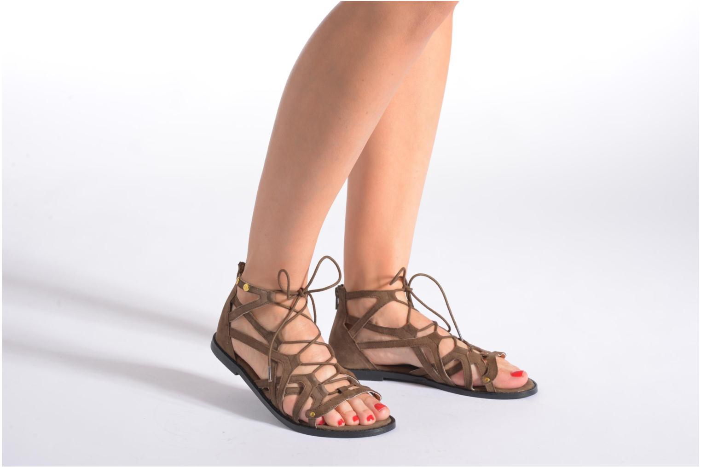 Sandales et nu-pieds Bronx Lyona Marron vue bas / vue portée sac
