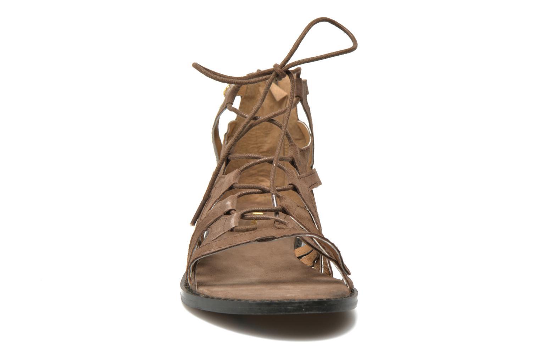Sandales et nu-pieds Bronx Lyona Marron vue portées chaussures