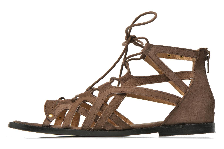 Sandales et nu-pieds Bronx Lyona Marron vue face