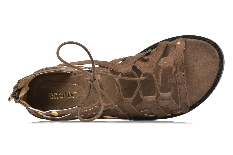 Sandales et nu-pieds Bronx Lyona Marron vue gauche