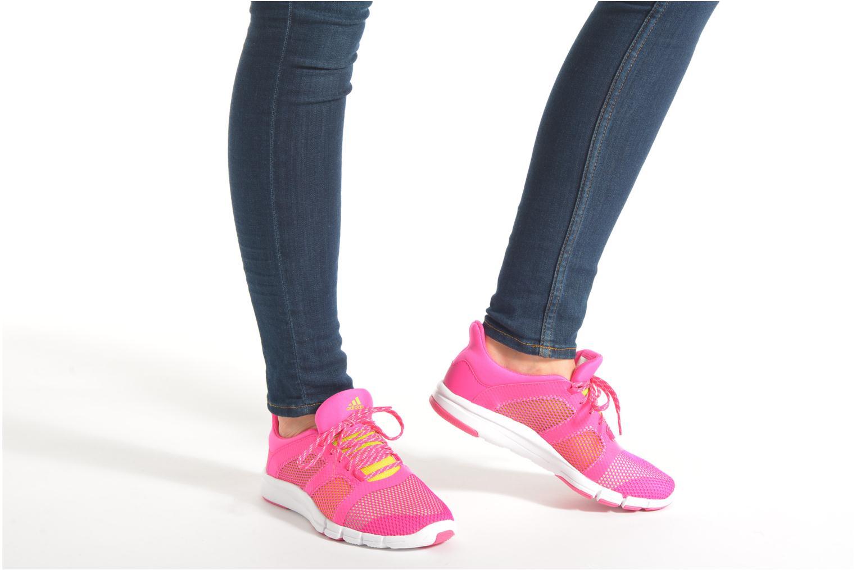 Chaussures de sport Adidas Performance Adipure Flex Rose vue bas / vue portée sac