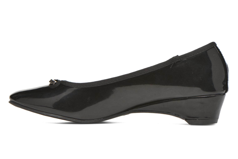 Ballerinas Isotoner Ballerine vernis talon 3 cm schwarz ansicht von vorne