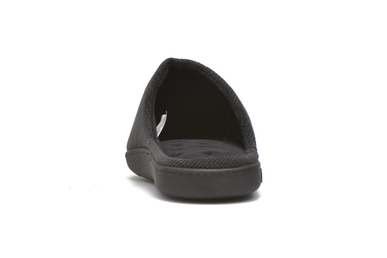 Chaussons Isotoner Mule ergonomique velours cotelé Noir vue droite
