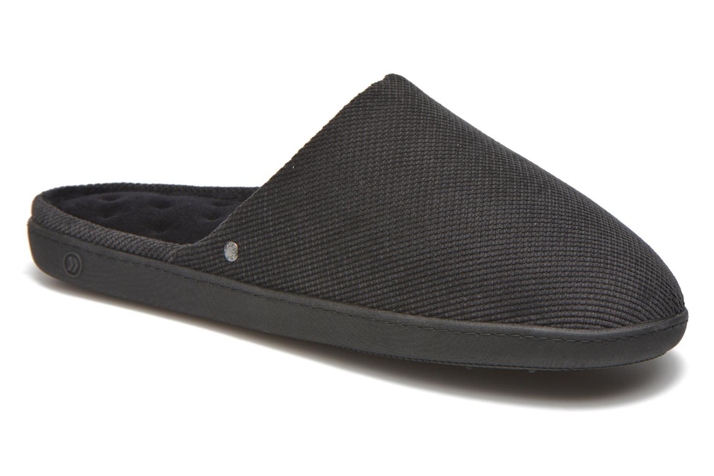 Chaussons Isotoner Mule ergonomique velours cotelé Noir vue détail/paire