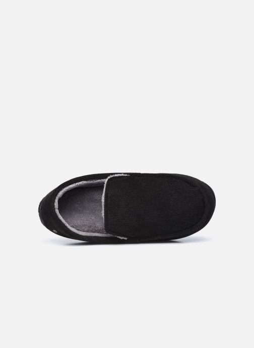 Pantuflas Isotoner Mocassin velours côtelé Negro vista lateral izquierda