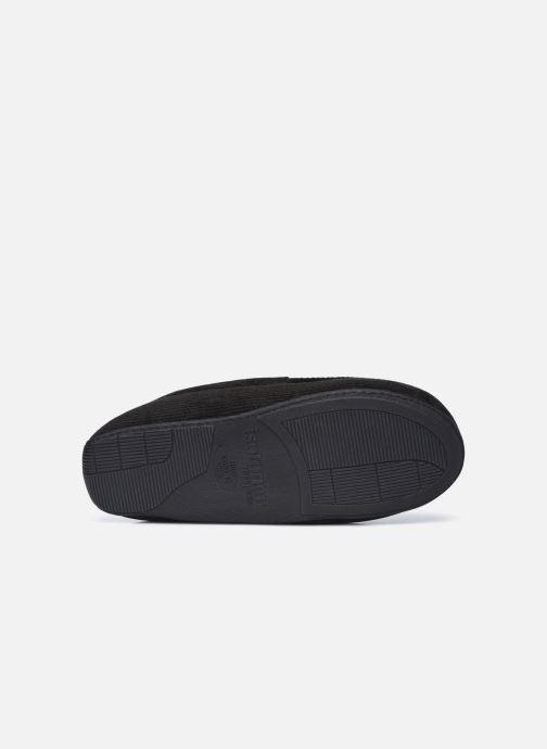 Pantuflas Isotoner Mocassin velours côtelé Negro vista de arriba