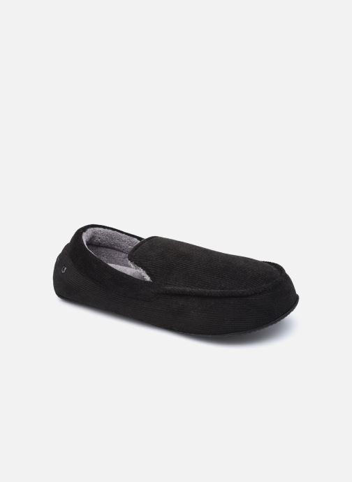 Pantuflas Isotoner Mocassin velours côtelé Negro vista de detalle / par