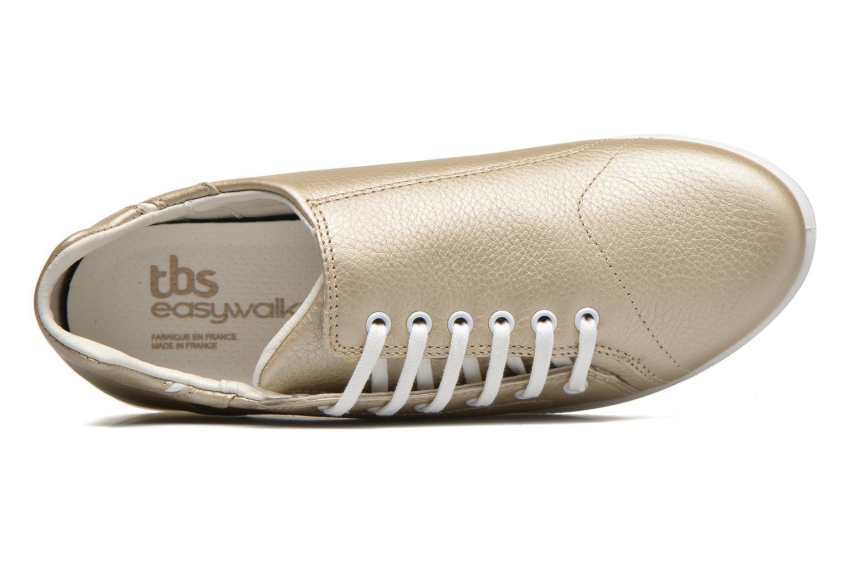 Deportivas TBS Easy Walk Orrelie Oro y bronce vista lateral izquierda