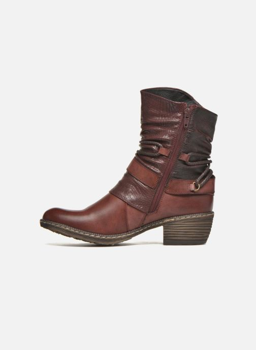 Ankle boots Rieker Annie K1480 Burgundy front view