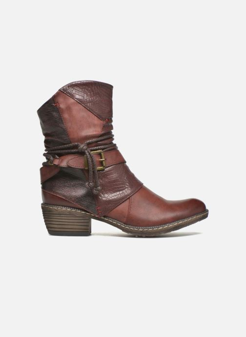 Ankle boots Rieker Annie K1480 Burgundy back view