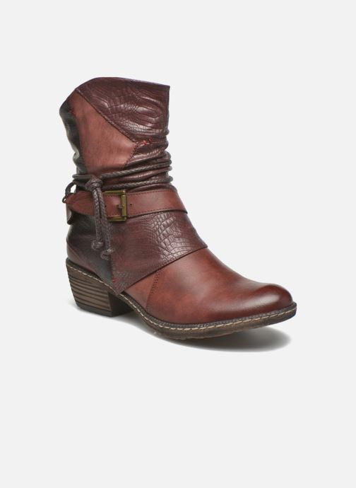 Ankle boots Rieker Annie K1480 Burgundy detailed view/ Pair view