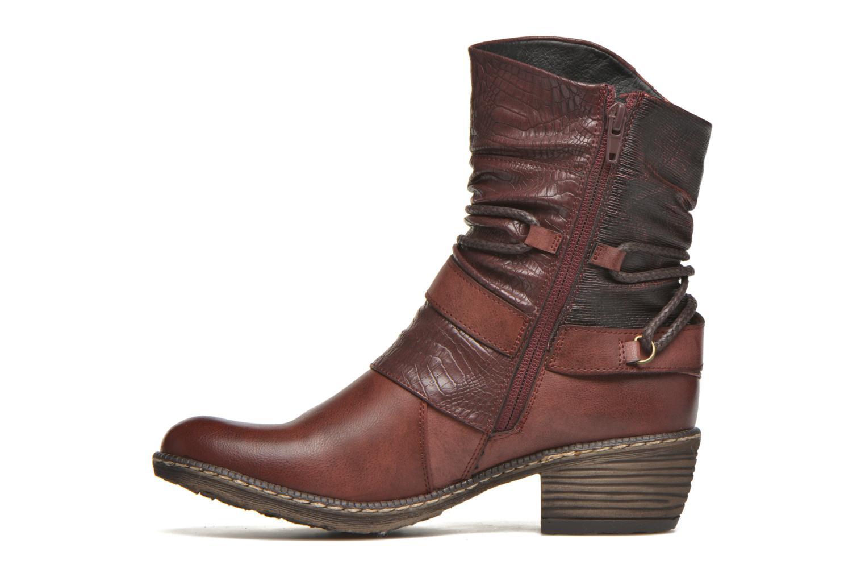 Bottines et boots Rieker Annie K1480 Bordeaux vue face
