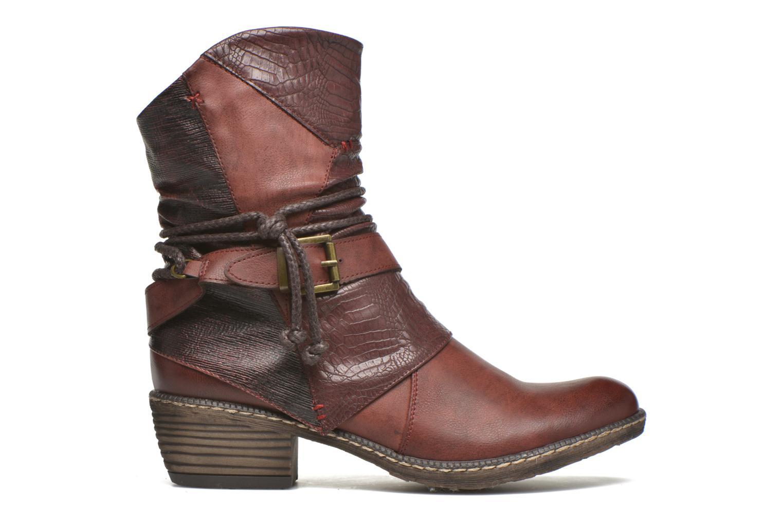 Bottines et boots Rieker Annie K1480 Bordeaux vue derrière