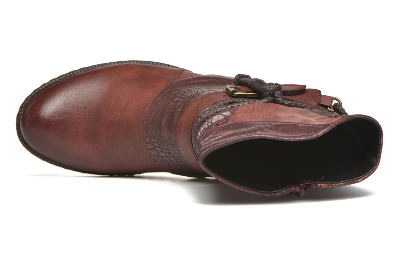Bottines et boots Rieker Annie K1480 Bordeaux vue gauche