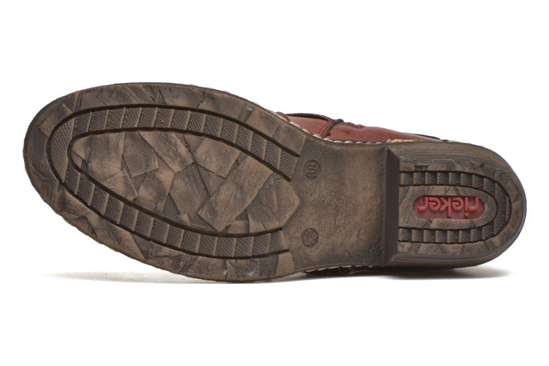 Bottines et boots Rieker Annie K1480 Bordeaux vue haut