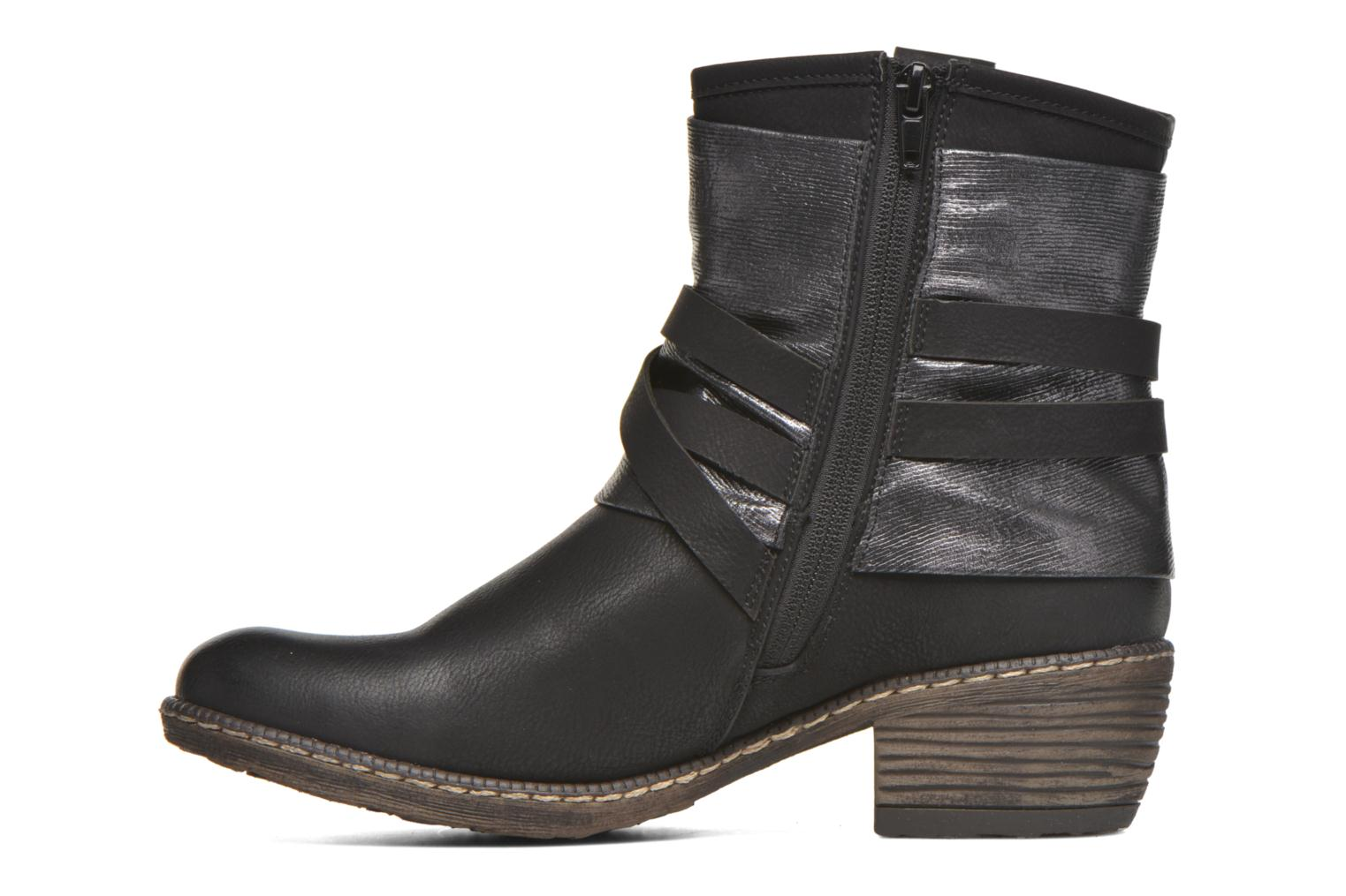 Ankle boots Rieker Gil K1483 Black front view
